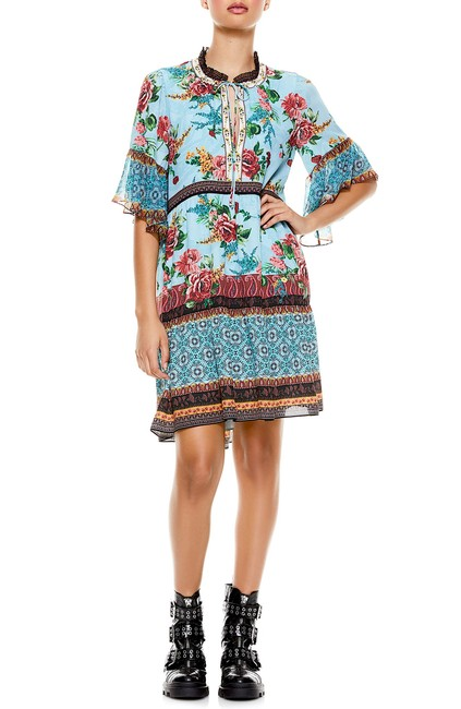 Item - Multi New with Tag Glory Tiered Ruffle Tunic Short Night Out Dress Size 8 (M)