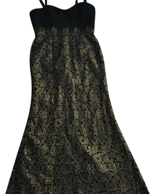 Item - Gold and Black Lace Trumpet Gown Long Formal Dress Size 16 (XL, Plus 0x)