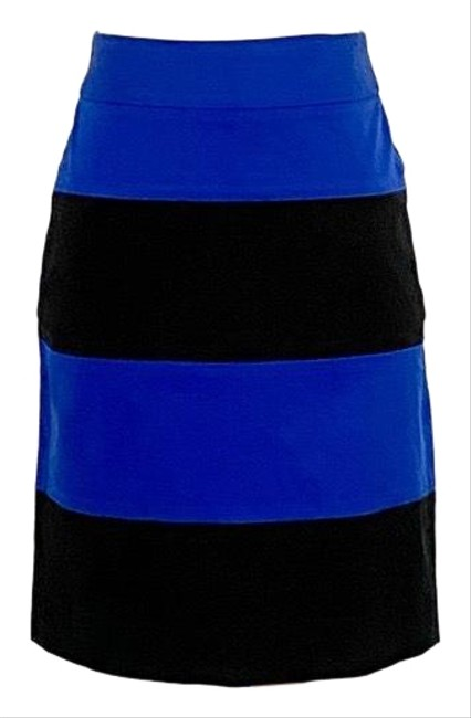 Item - Blue/Black Cotton Blend Wide Stripe Skirt Size 2 (XS, 26)
