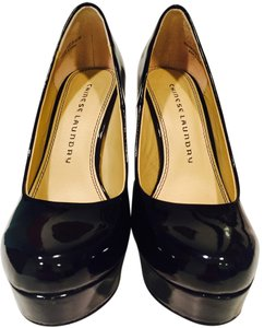 Chinese Laundry Glossy Comfortable Black Pumps