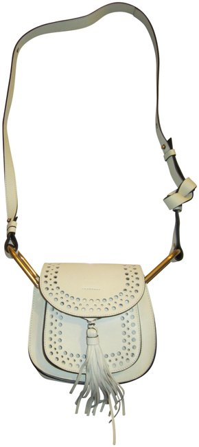 Item - Hudson Perforated Mini Off White Leather Cross Body Bag
