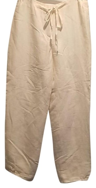 Item - Offwhite Linen-style Capri/Ankle Pants Size 4 (S, 27)