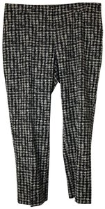 Hugo Boss 14 Houndstood Skinny Capri/Cropped Pants Black, White