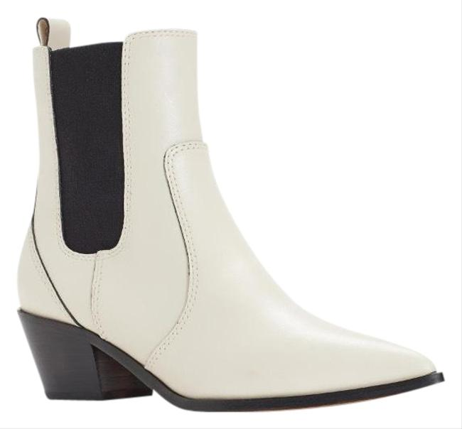 Item - White Cream Leather Willa Western Chelsea Boots/Booties Size US 6.5 Regular (M, B)