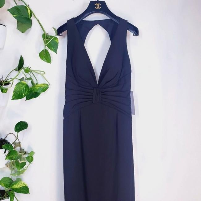 JS Collections Black Stretch Crepe Plunge Backless Evening V-neck Cutout Sleeveless Long Formal Dress Size 4 (S) JS Collections Black Stretch Crepe Plunge Backless Evening V-neck Cutout Sleeveless Long Formal Dress Size 4 (S) Image 12
