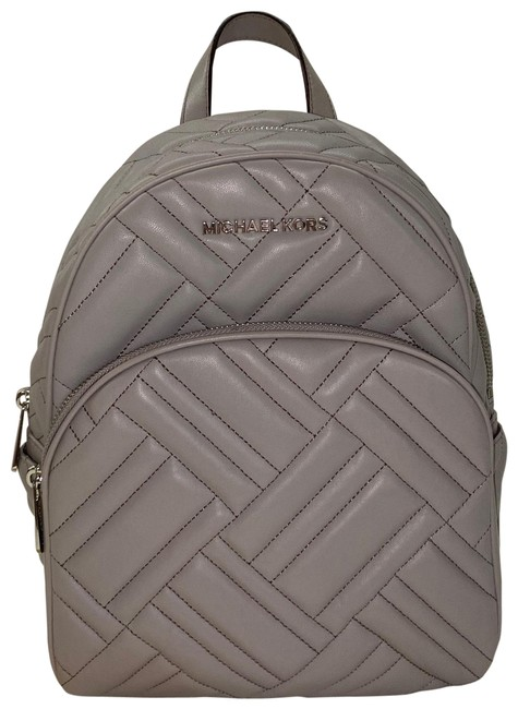 Item - Grey Gray Silver Leather Backpack