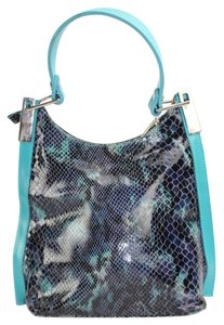 Claude Gerard Satchel in Blue Python