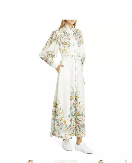 Item - Off-white Wavelength Bell Sleeve Mid-length Casual Maxi Dress Size 4 (S)