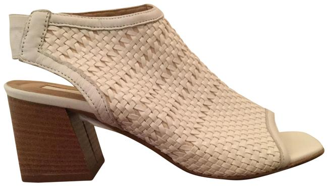 Item - White Nifty Woven Flared Heel Sandals Size US 7.5 Regular (M, B)