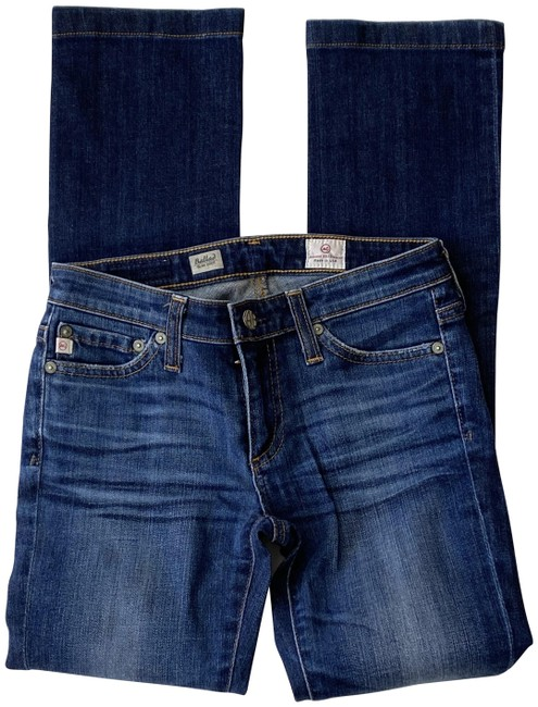 Item - Blue Medium Wash Ballad Slim Straight Leg Jeans Size 24 (0, XS)