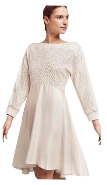 Item - Ivory Noa Dolman By Holding Horses Mid-length Cocktail Dress Size 6 (S)