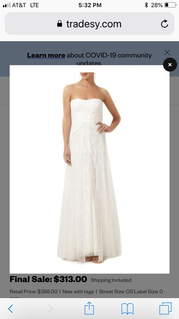 Item - Ivory Tulle Bcbg Moriza Long Strapless Gown Feminine Wedding Dress Size 2 (XS)