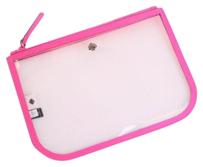Kate Spade Pink Pouch Clear Slim Case Radiant Cosmetic Bag Kate Spade Pink Pouch Clear Slim Case Radiant Cosmetic Bag Image 1