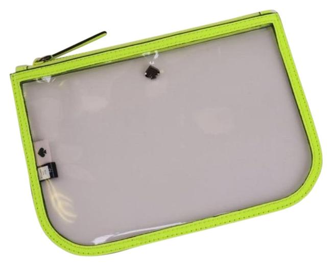 Item - Yellow Pouch Clear Slim Case Radiant Cosmetic Bag