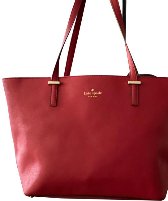 Kate Spade Cameron Street Red Saffiano Leather Tote Kate Spade Cameron Street Red Saffiano Leather Tote Image 1