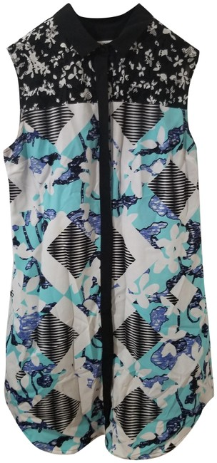 Preload https://img-static.tradesy.com/item/27917417/peter-pilotto-for-target-blue-and-black-short-casual-dress-size-8-m-0-1-650-650.jpg