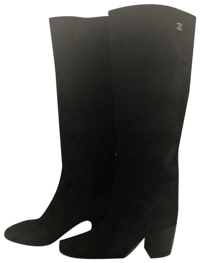 Preload https://img-static.tradesy.com/item/27917423/chanel-black-knee-hightall-suede-bootsbooties-size-eu-37-approx-us-7-regular-m-b-0-1-540-540.jpg