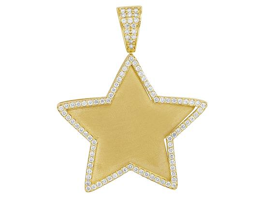 Preload https://img-static.tradesy.com/item/27917472/jewelry-unlimited-10k-yellow-gold-real-diamond-star-picture-engrave-pendant-2-125ct-charm-0-0-540-540.jpg
