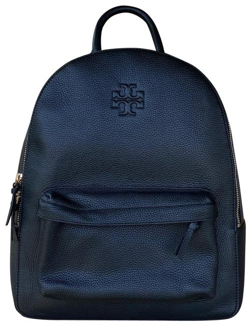 Tory Burch Thea Black Leather Backpack Tory Burch Thea Black Leather Backpack Image 1