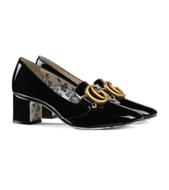 Gucci Marmont Double G Patent Leather Pumps Size EU 38 (Approx. US 8) Regular (M, B) Gucci Marmont Double G Patent Leather Pumps Size EU 38 (Approx. US 8) Regular (M, B) Image 1