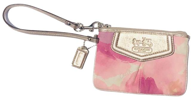 Coach Different Shades Of Pink On The Outside and Purple On The Inside Wristlet Coach Different Shades Of Pink On The Outside and Purple On The Inside Wristlet Image 1