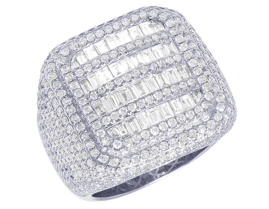 Preload https://img-static.tradesy.com/item/27917632/jewelry-unlimited-14k-white-gold-xl-men-championship-rounded-square-baguette-pinky-ring-0-0-540-540.jpg