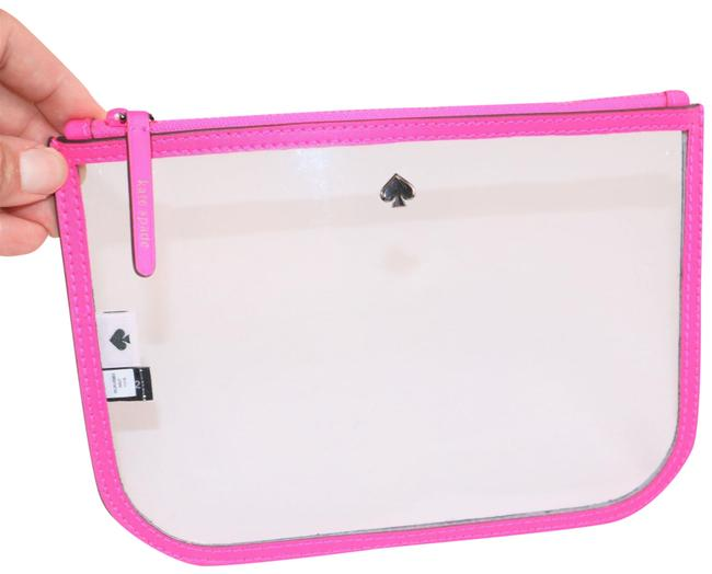 Item - Radiant Pink Pouch Clear Logo Organizer Cosmetic Bag