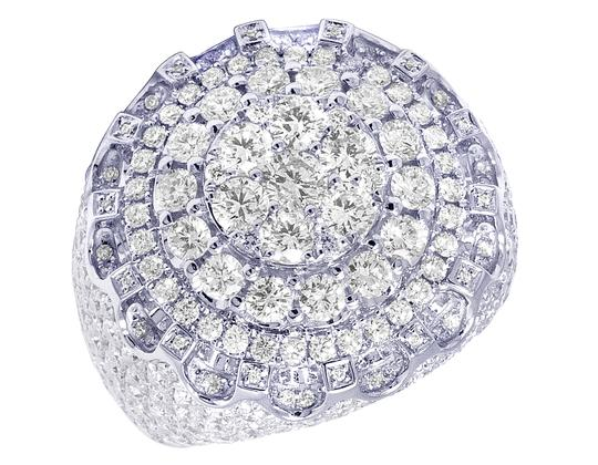 Preload https://img-static.tradesy.com/item/27917712/jewelry-unlimited-14k-white-gold-xl-men-real-diamond-center-cluster-4-row-circle-ring-0-0-540-540.jpg