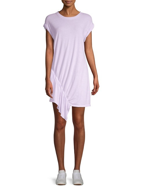 Item - Orchid Petal Pacific Avenue Linen & Cotton Ruffle Short Casual Dress Size 8 (M)