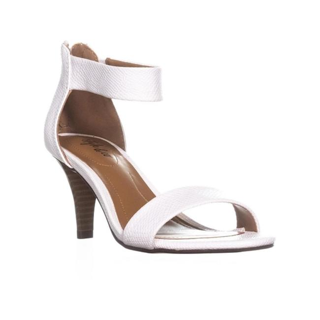 Style & Co White Snake Paycee Two-piece Dress Sandals Size US 7.5 Regular (M, B) Style & Co White Snake Paycee Two-piece Dress Sandals Size US 7.5 Regular (M, B) Image 1