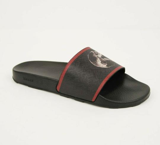 Preload https://img-static.tradesy.com/item/27917880/bally-black-rubber-slide-sandals-with-logo-and-red-edge-us-9d8-eu-consumer-shoes-0-0-540-540.jpg