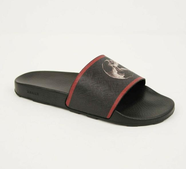Item - Black Rubber Slide Sandals with Logo and Red Edge Us 10d/9 Eu Consumer Shoes