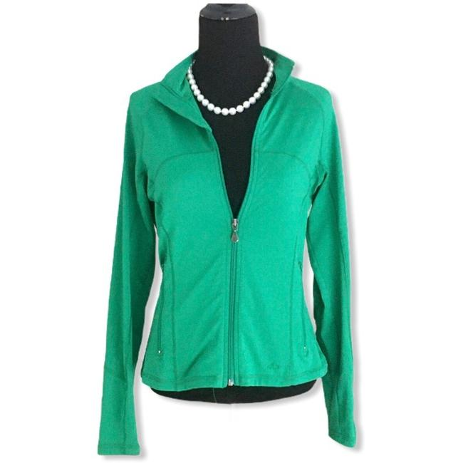 Item - Green Full Zip Activewear Outerwear Size 4 (S)