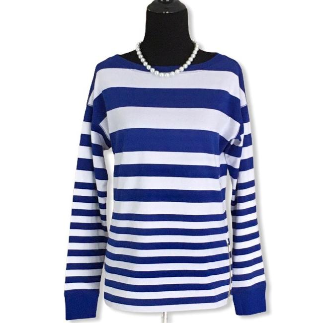 Item - Blue Striped Tee Shirt Size 6 (S)