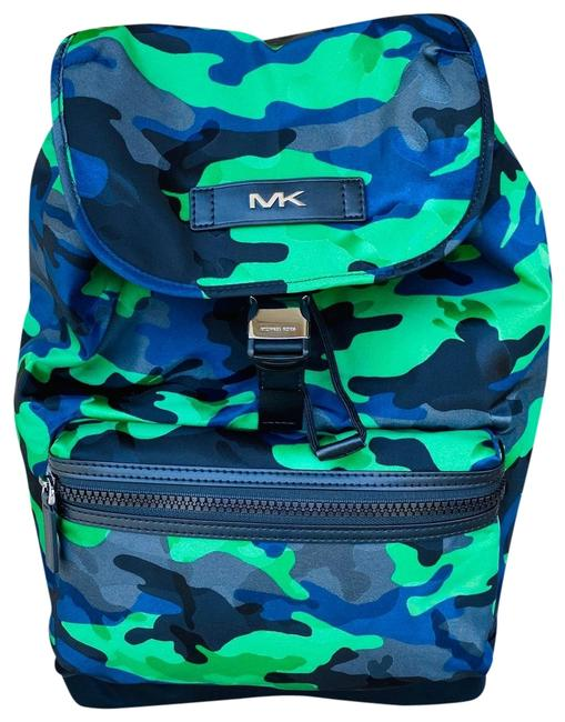 Item - Men's Kent Camouflage Blue/Green Nylon/Leather Backpack