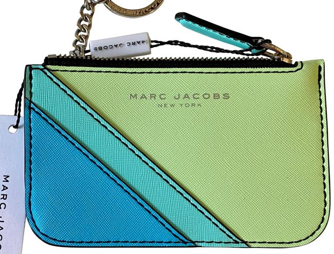 Item - Blue/Green/Lime Sky Multi/Color Card/Coin with Keychain Wallet
