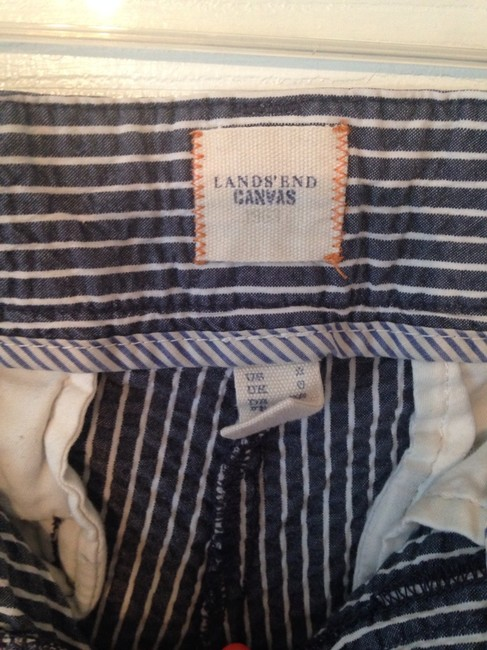 Lands' End Shorts Navy & White