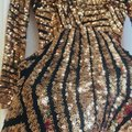 Dress the Population Gold Sequin Lola Long Sleeve Short Night Out Dress Size 0 (XS) Dress the Population Gold Sequin Lola Long Sleeve Short Night Out Dress Size 0 (XS) Image 6