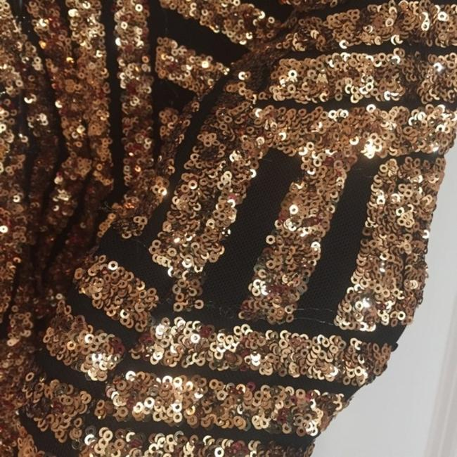 Dress the Population Gold Sequin Lola Long Sleeve Short Night Out Dress Size 0 (XS) Dress the Population Gold Sequin Lola Long Sleeve Short Night Out Dress Size 0 (XS) Image 9