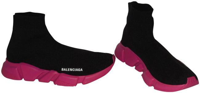 Item - Black and Pink Knit High Top Sock Speed Trainer Sneakers Size EU 41 (Approx. US 11) Regular (M, B)