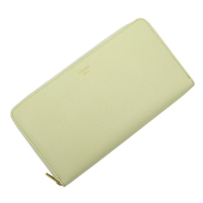 Item - Gold / Yellow Zipper Leather Ladies Wallet