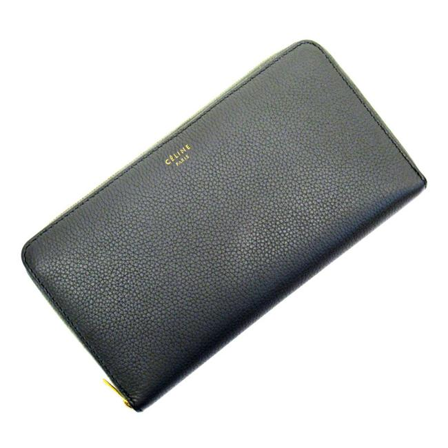 Item - Gold / Gray Zipper Leather Ladies Wallet