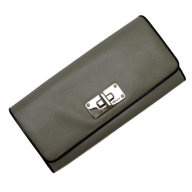 Item - Black / Gray / Silver Saffiano Leather Ladies Wallet
