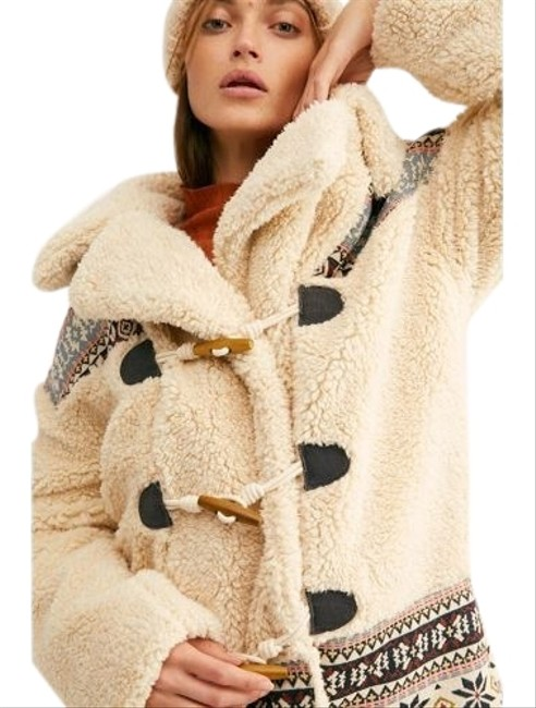 Item - Ivory Oh My Teddy Sherpa Toggle Double Breasted Pile Coat Size 6 (S)