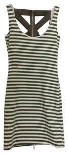 Poof Couture short dress Green and white on Tradesy