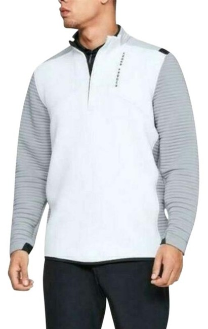 Under Armour White Men's Storm Daytona Golf Half Zip Gray Track Activewear Outerwear Size 6 (S) Under Armour White Men's Storm Daytona Golf Half Zip Gray Track Activewear Outerwear Size 6 (S) Image 1