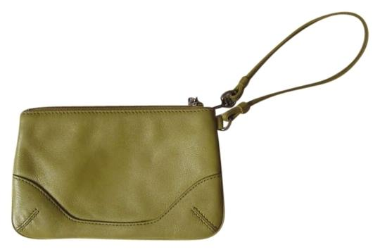 Coach Green Leather Chartreuse Wristlet in Green/Chartreuse