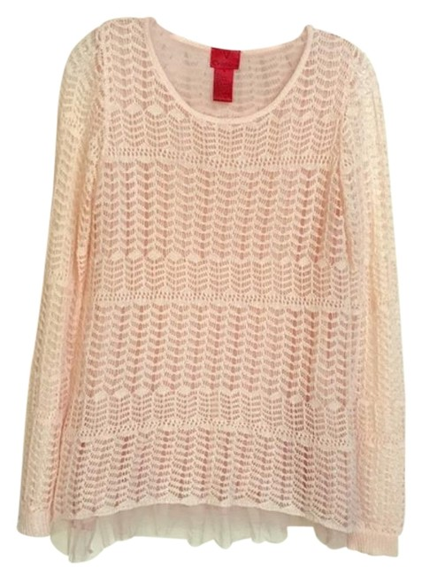 V Cristina Knit Ruffle Dust Pink Sweater V Cristina Knit Ruffle Dust Pink Sweater Image 1