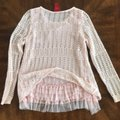 V Cristina Knit Ruffle Dust Pink Sweater V Cristina Knit Ruffle Dust Pink Sweater Image 4
