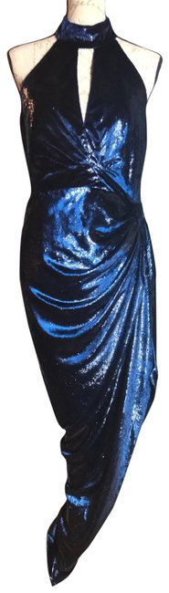 Item - Shimmery Navy Blue Nwt-sz 8- New York Evening Gown Long Formal Dress Size 8 (M)